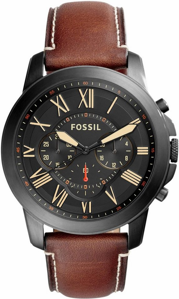 Fossil Chronograph »GRANT, FS5241« in hellbraun