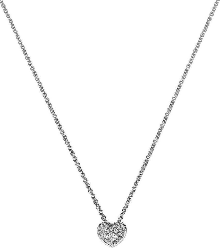 VIVENTY Kette mit Anhänger »Herz, 774502« mit Zirkonia in Silber 925
