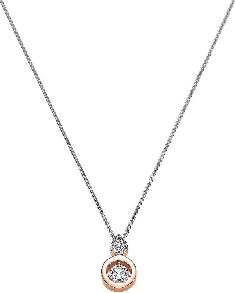 VIVENTY Kette mit Anhänger »774532« mit Zirkonia in Silber 925-roségoldfarben