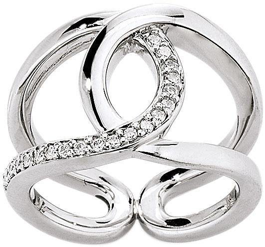 VIVENTY Silberring »775861« mit Zirkonia in Silber 925