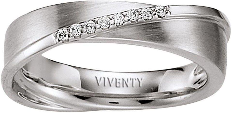 VIVENTY Silberring »761521« mit Zirkonia in Silber 925
