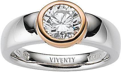 VIVENTY Silberring »772301« mit Zirkonia in Silber 925-roségoldfarben