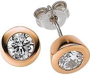 VIVENTY Paar Ohrstecker »772304« mit Zirkonia in Silber 925-roségoldfarben