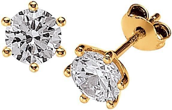 VIVENTY Paar Ohrstecker »769794« mit Zirkonia in Silber 925-goldfarben