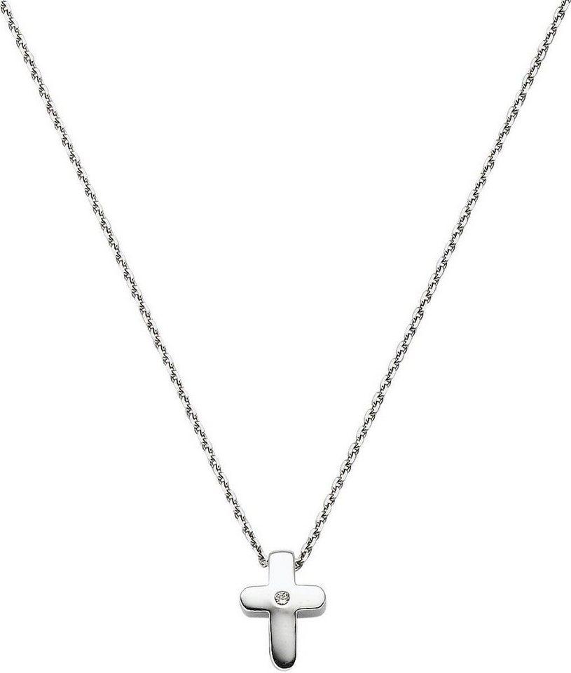 VIVENTY Kette mit Anhänger »Kreuz, 772292« mit Zirkonia in Silber 925