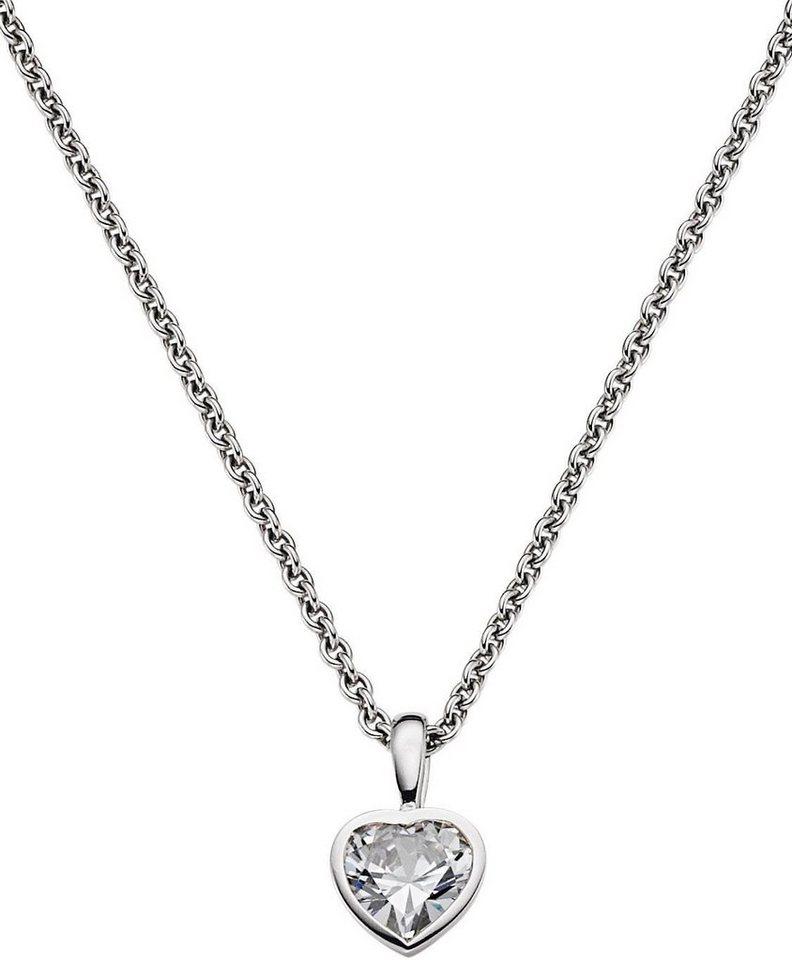 VIVENTY Kette mit Anhänger »Herz, 762602« mit Zirkonia in Silber 925
