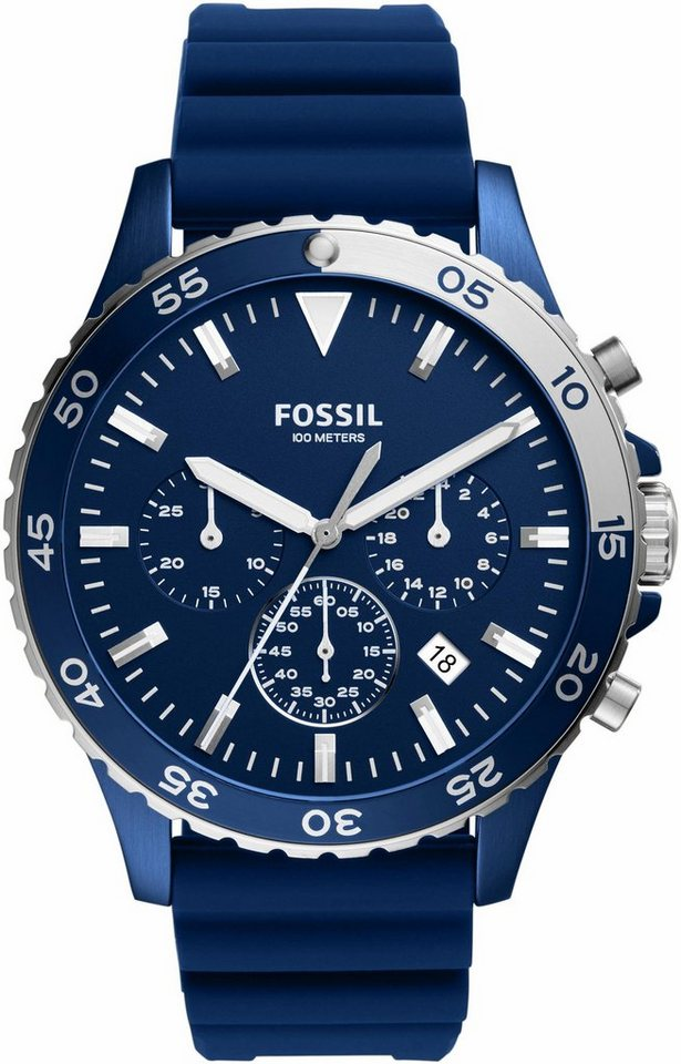Fossil Chronograph »CREWMASTER, CH3054« in blau