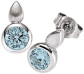 VIVENTY Paar Ohrstecker »776674« mit Blautopas in Silber 925-blau