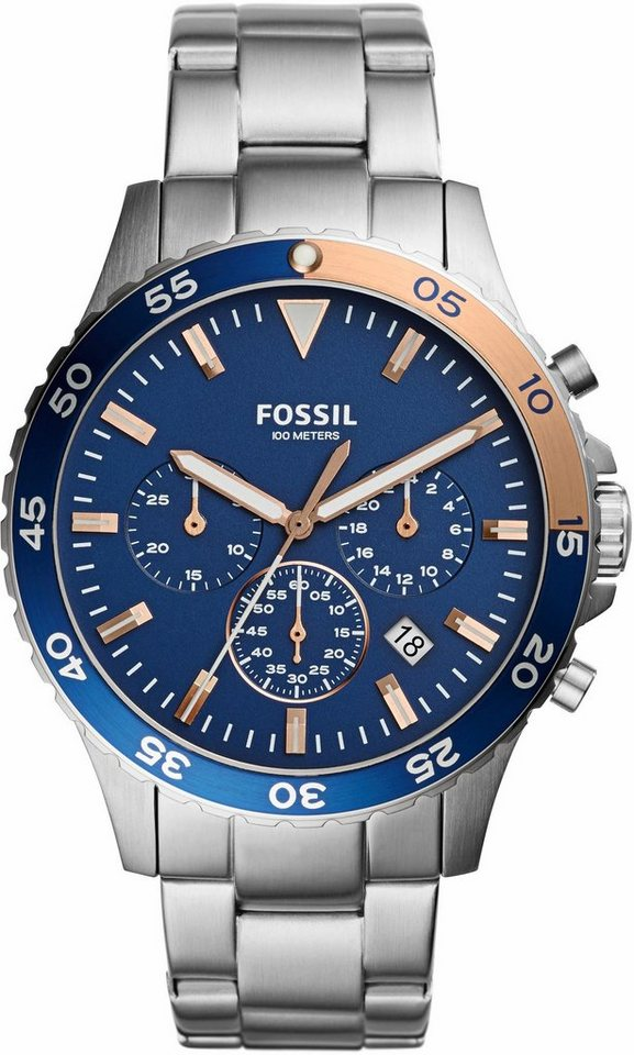 Fossil Chronograph »CREWMASTER, CH3059« in silberfarben