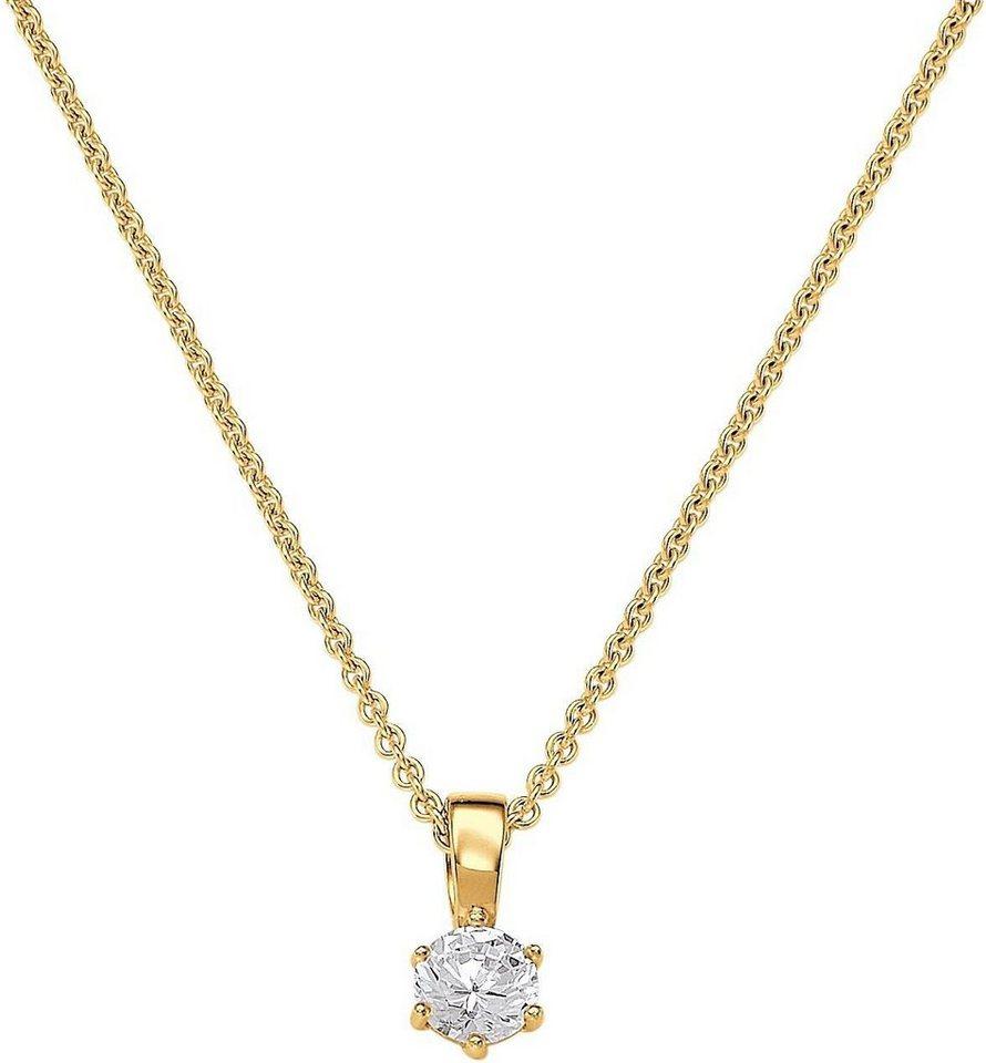 VIVENTY Kette mit Anhänger »769793« mit Zirkonia in Silber 925-goldfarben