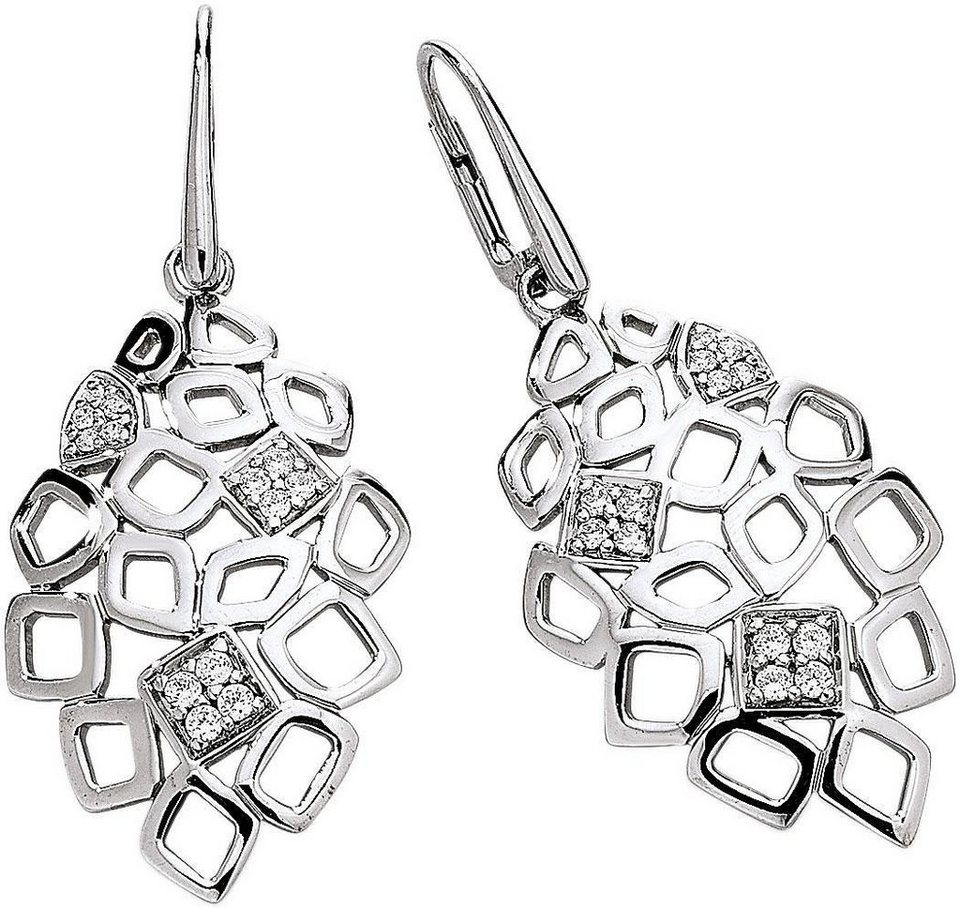 VIVENTY Paar Ohrhänger mit Zirkonia in Silber 925