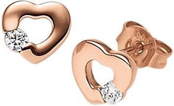 VIVENTY Paar Ohrstecker »Herz, 773514« mit Zirkonia in Silber 925-roségoldfarben