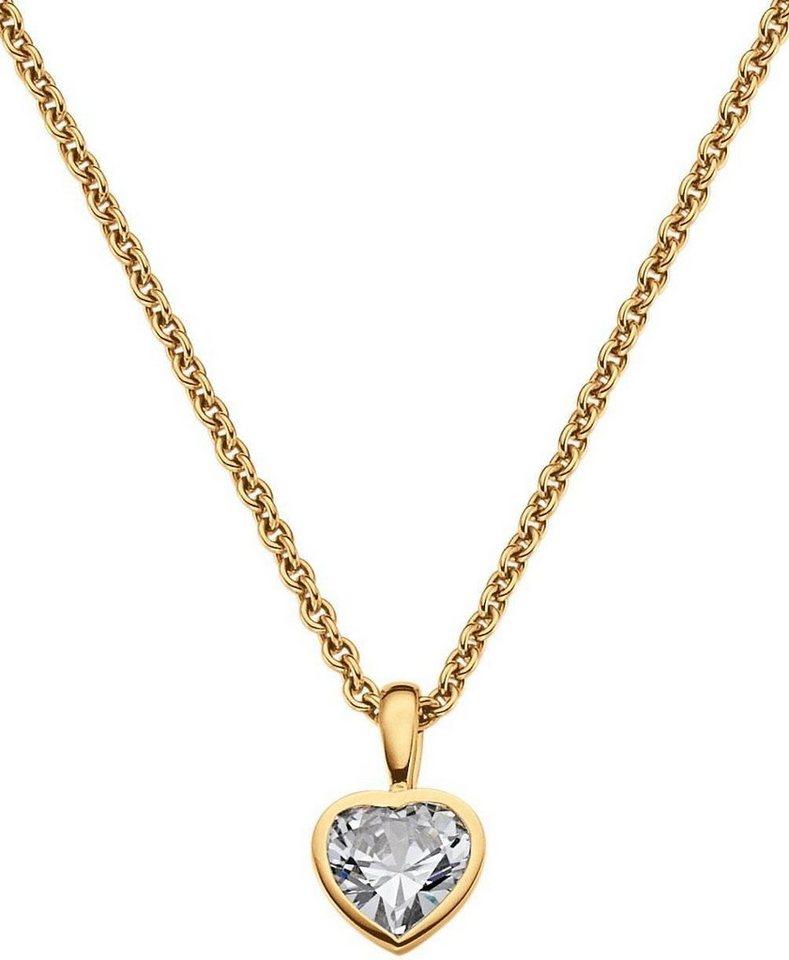 VIVENTY Kette mit Anhänger »Herz, 775112« mit Zirkonia in Silber 925-goldfarben