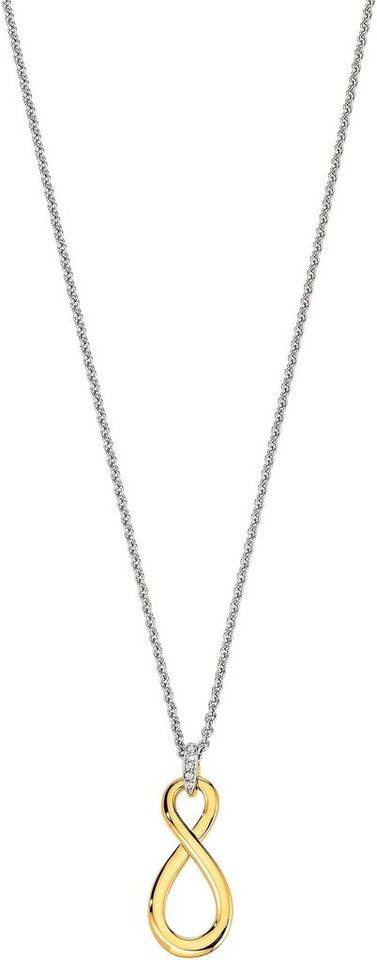 VIVENTY Kette mit Anhänger »Infinity, 775882« mit Zirkonia in Silber 925-silberfarben-goldfarben
