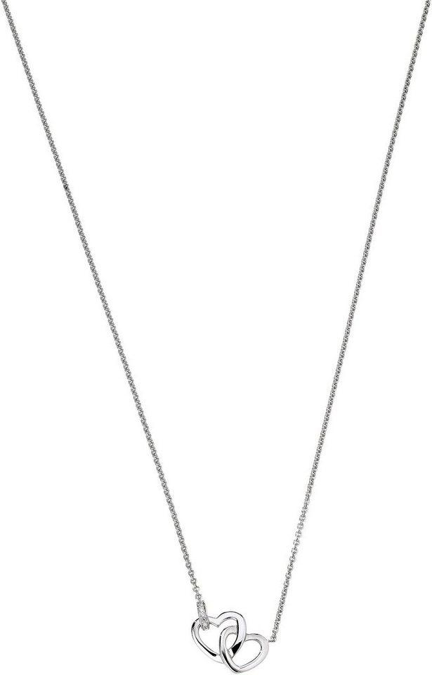 VIVENTY Kette mit Anhänger »Herzen, 775798« mit Zirkonia in Silber 925