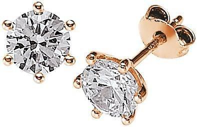 VIVENTY Paar Ohrstecker »772124« mit Zirkonia in Silber 925-roségoldfarben