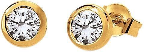 VIVENTY Paar Ohrstecker »776574« mit Zirkonia in Silber 925-goldfarben