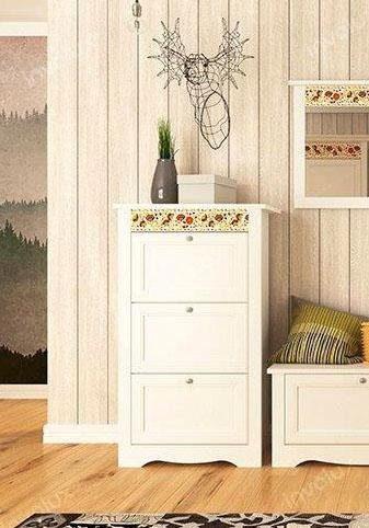 Home affaire Schuhkommode »Elza«, weiß mit dekorativem Muster