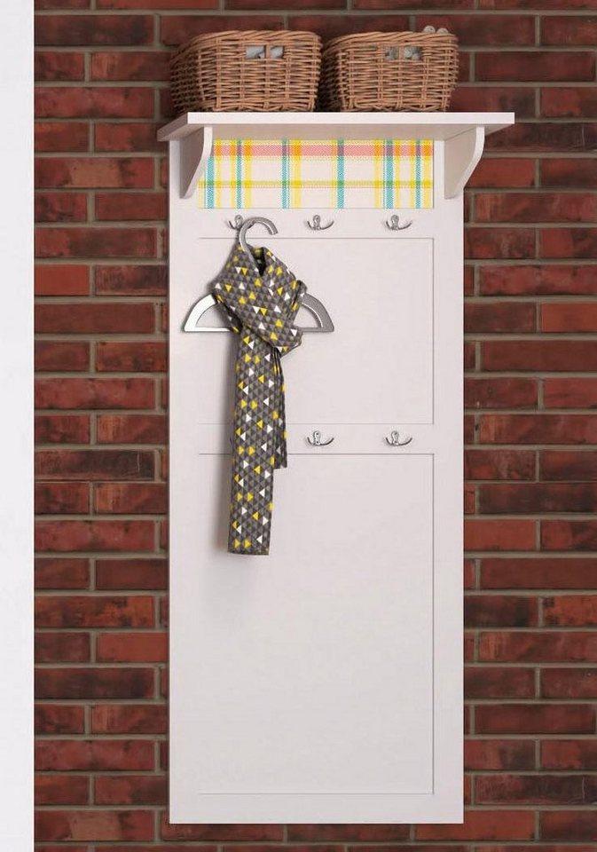 Home affaire Garderobe »Sonya«, mit dekorativen Glaseinsätzen, Breite 64 cm in weiß