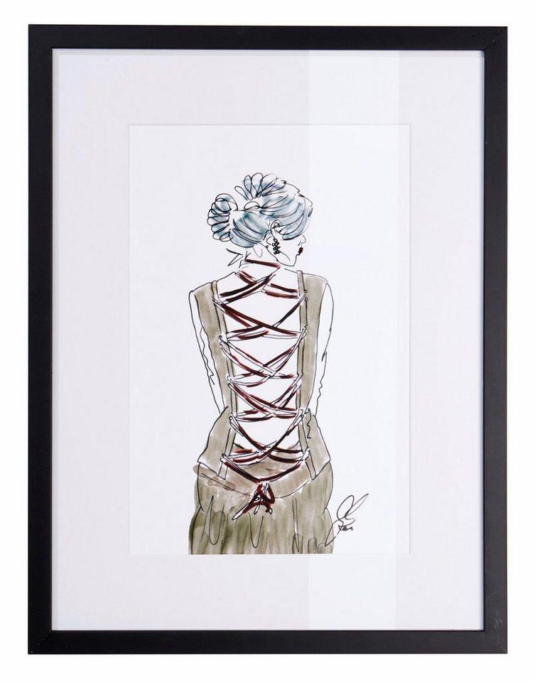 guido maria kretschmer home living bild fashion zeichnung gerahmt online kaufen otto. Black Bedroom Furniture Sets. Home Design Ideas
