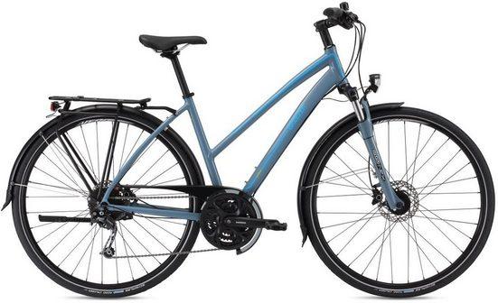 BREEZER Bikes Trekkingrad »Liberty 4S+ Step Through«, 27 Gang Shimano Deore Trekking Schaltwerk, Kettenschaltung
