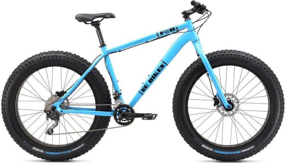SE Bikes Herren Fatbike, 26 Zoll, 27 Gang Shimano Deore Schaltung, »F@R« in hellblau