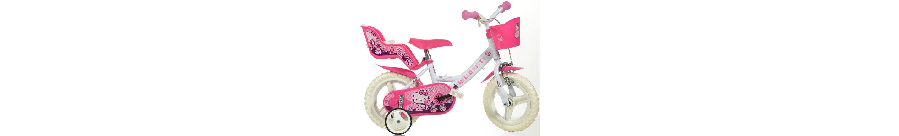 Kinderrad, mit Lenkerkorb + Puppensitz, in 12 Zoll »Hello Kitty«
