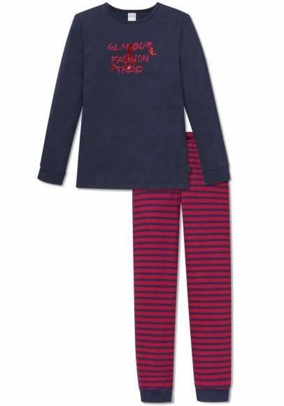 Schiesser langer Pyjama in nachtblau