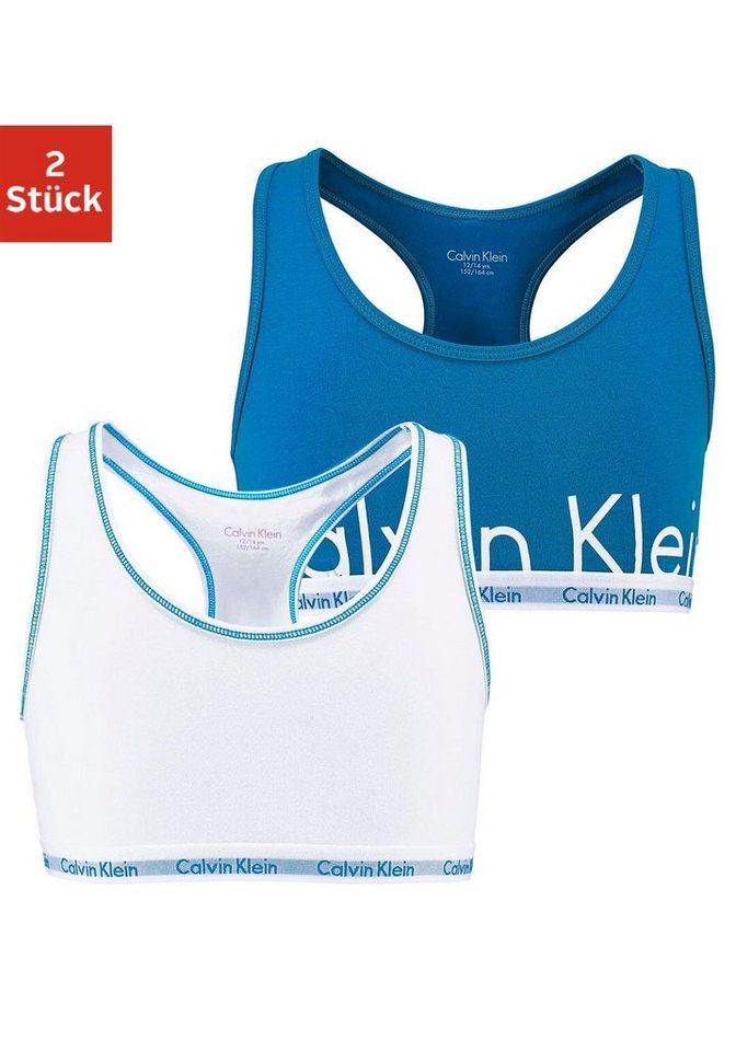 Calvin Klein Bustier (2 Stück) in weiß/blau