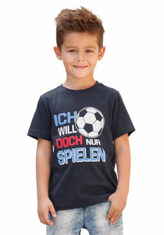 KIDSWORLD T-Shirt Mit großem Druck vorn in marine
