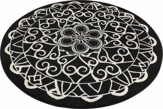 Teppich »Mandala 1«, Zala Living, rund, Höhe 9 mm, Kurzflor, Wohnzimmer