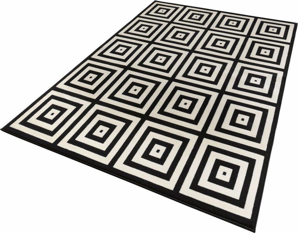 Teppich, Zala Living, »Mono«, gewebt in schwarz creme