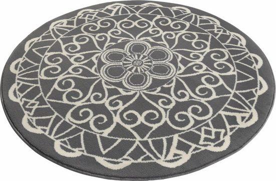 Teppich »Mandala 1«, Zala Living, rund, Höhe 9 mm, Kurzflor