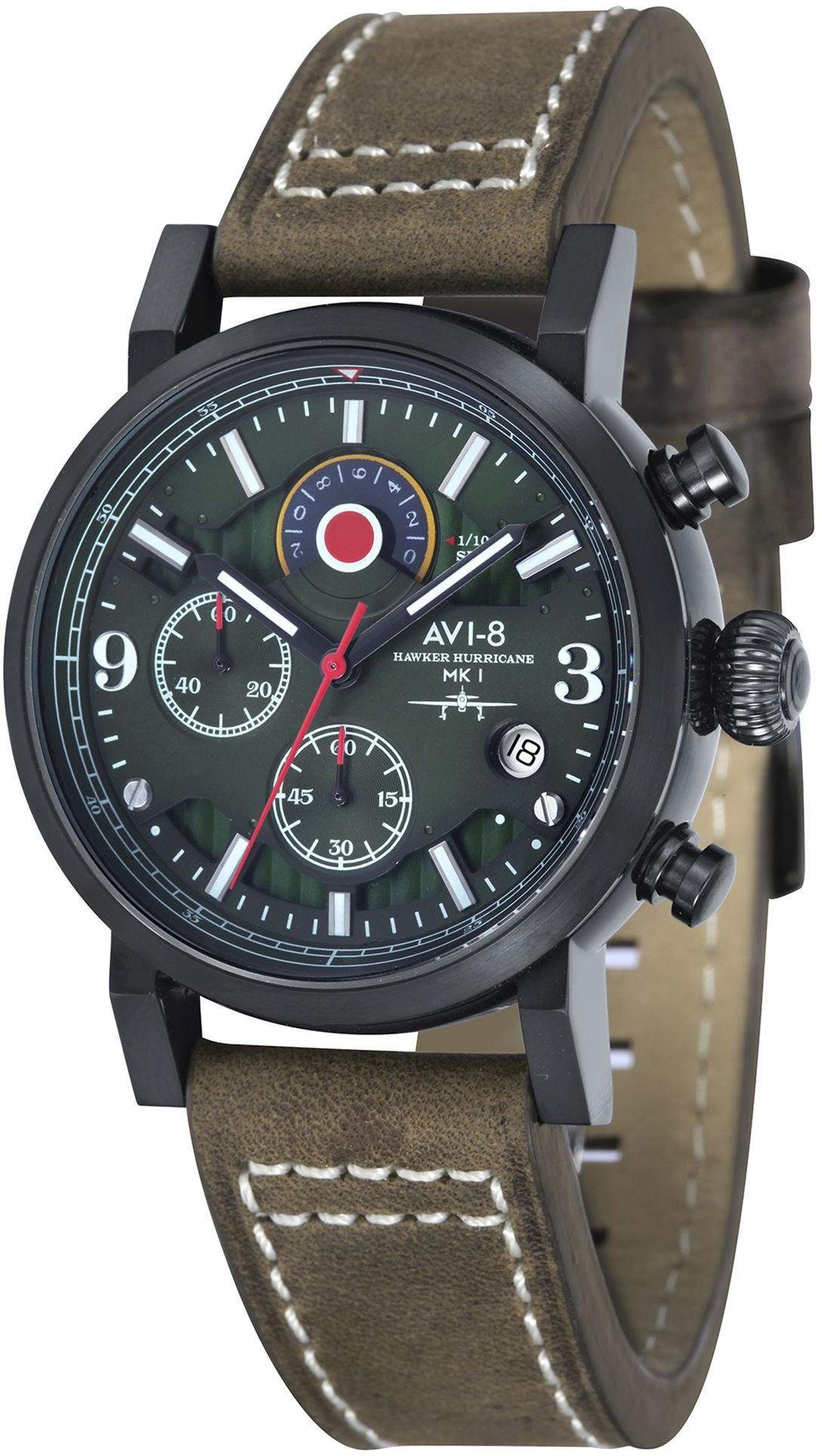 AVI-8 Chronograph »Hawker Hurricane, Av-4041-04«
