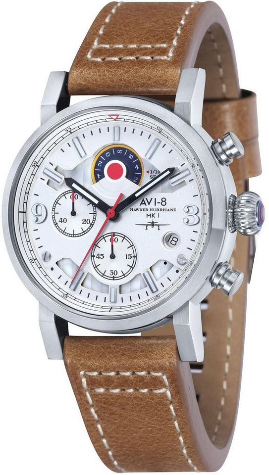 AVI-8 Chronograph »Hawker Hurricane, AV-4041-01« in hellbraun