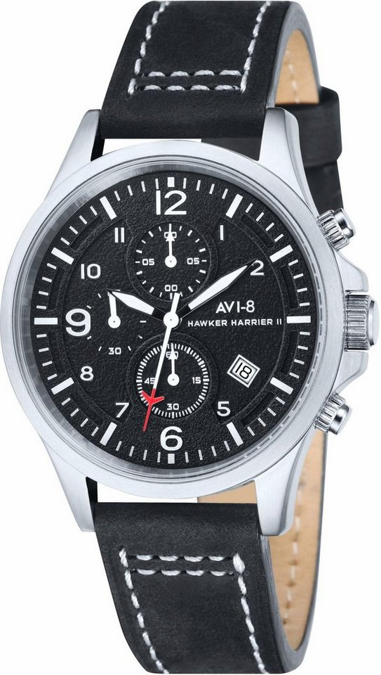 AVI-8 Chronograph »Hawker Harrier II, AV-4001-01« in schwarz
