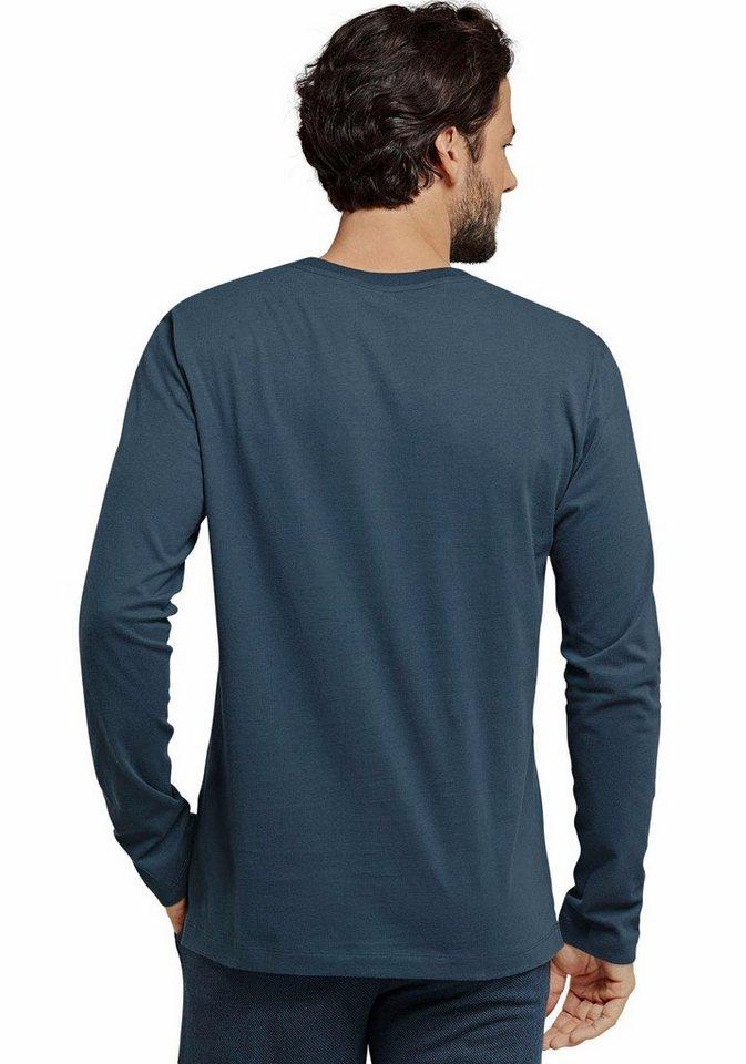 Schiesser Schlafshirt »Mix&Relax« auch in Großen Größen in blaugrau