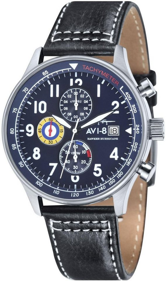 AVI-8 Chronograph »Hawker Hurricane, AV-4011-03« in schwarz