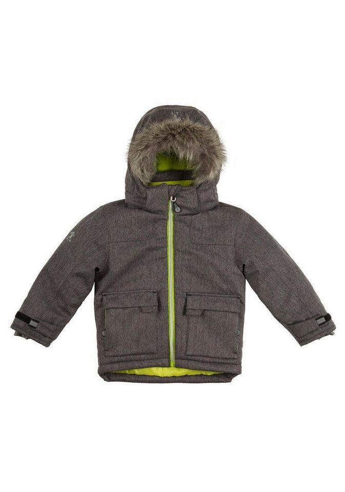B'Rep Winterjacke mit kontrastfarbenem Futter in grau-gemustert