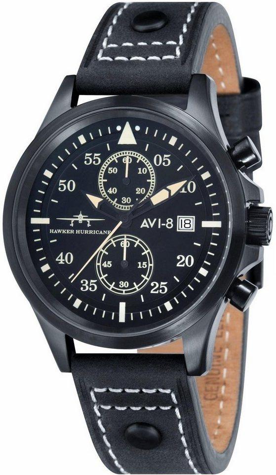 AVI-8 Chronograph »Hawker Hurricane, AV-4013-04« in schwarz