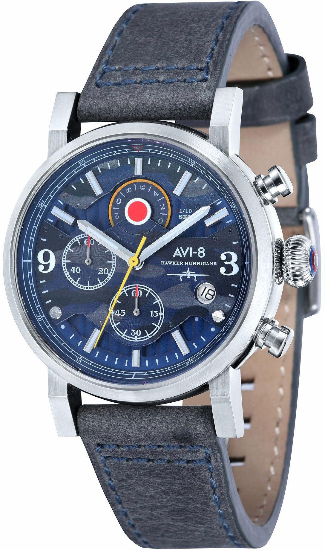 AVI-8 Chronograph »Hawker Hurricane, AV-4041-07«