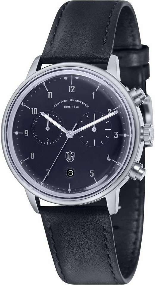 DuFa Chronograph »Hannes, DF-9003-03« Made in Germany in schwarz