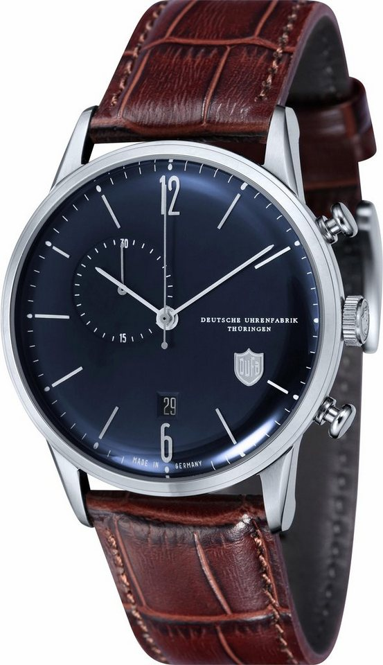 DuFa Chronograph »Weimar, DF-9012-05« Made in Germany in dunkelbraun