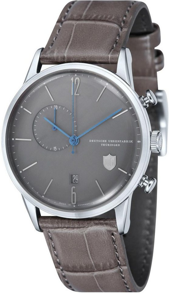 DuFa Chronograph »Weimar, DF-9012-02« Made in Germany in grau