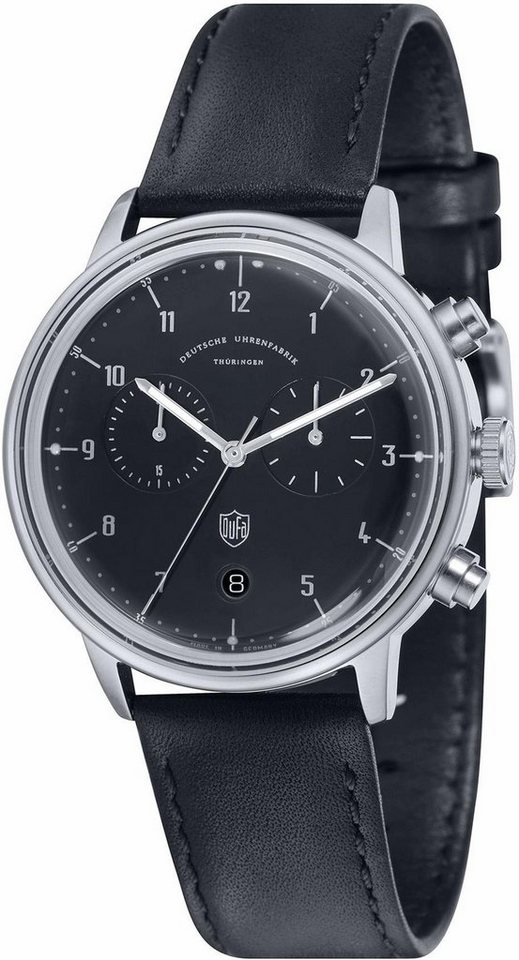 DuFa Chronograph »Hannes, DF-9003-01« Made in Germany in schwarz