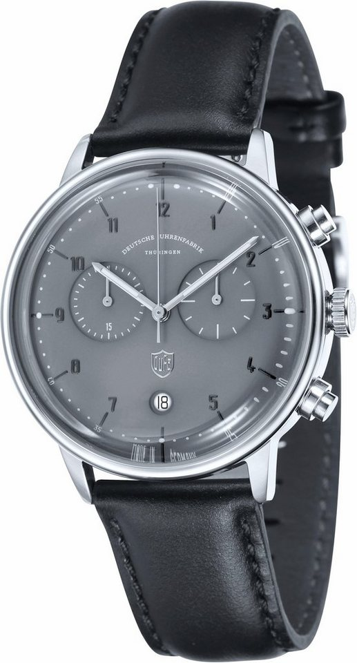 DuFa Chronograph »Hannes, DF-9003-08« Made in Germany in schwarz