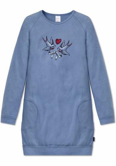 Schiesser Nachthemd in blaugrau