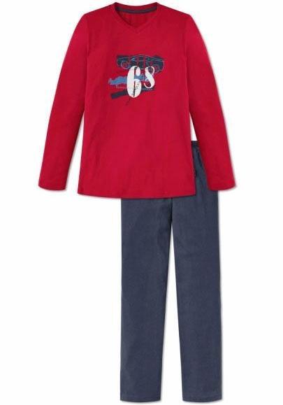 Schiesser langer Pyjama in rot
