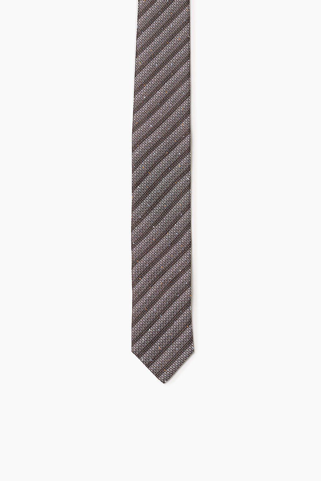ESPRIT COLLECTION Krawatte mit Strukturstreifen, 100% Seide