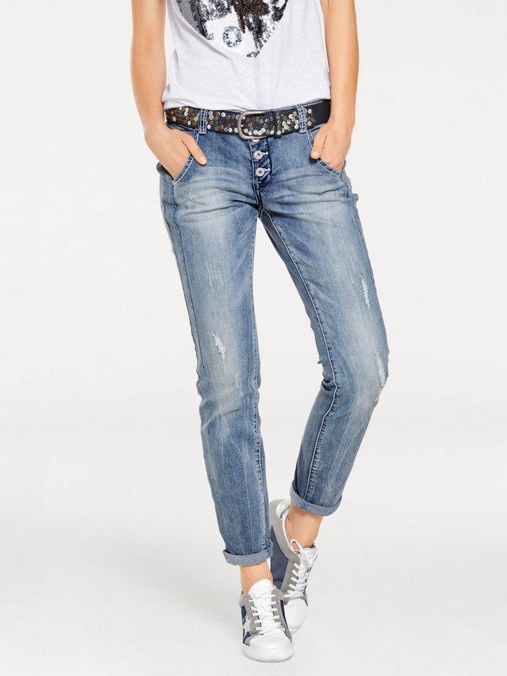 B.C. BEST CONNECTIONS by Heine Boyfriend-Jeans in bleached